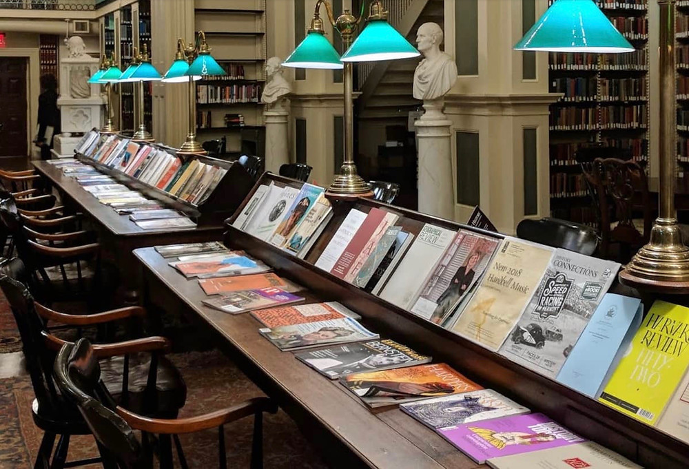 the second floor reading room