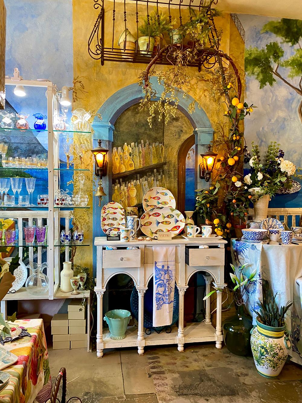 ceramics at La Bella Vita in Little Italy