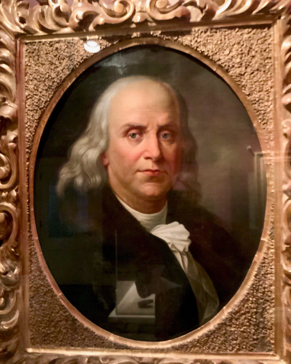Portrait of Benjamin Franklin the the Chateau Ramezay