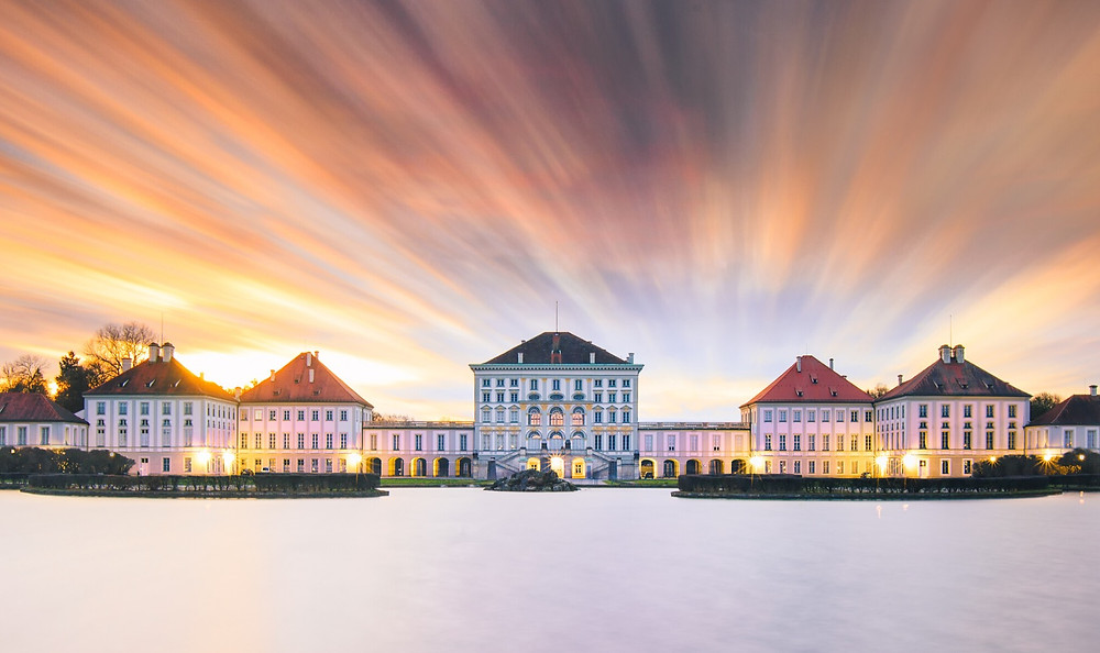 Nymphenburg Palace, about 30 minutes outside Munich. This is Ludwig's birthplace.