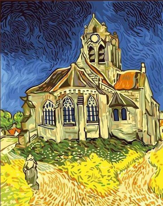 Vincent Van Gogh, Church at Auvers, 1890