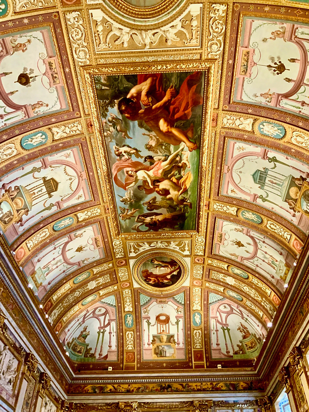 ceiling frescos in the Hall of Emperors