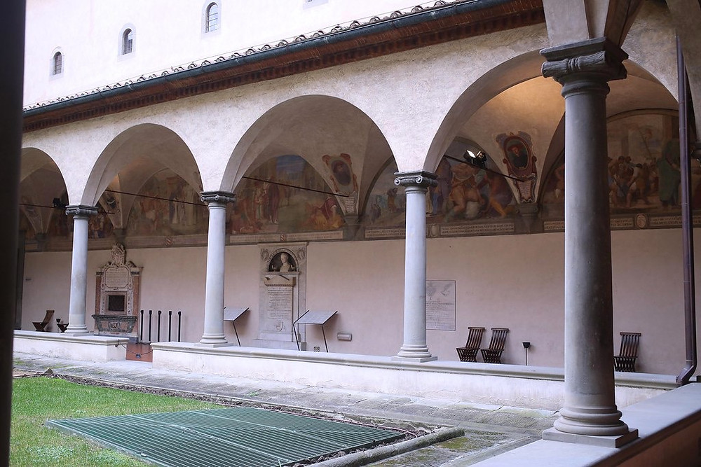 the cloister of San Marco Monastery, a beautiful hidden gem in Florence