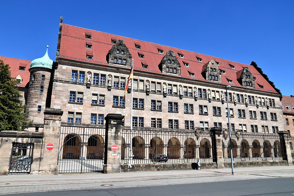 Palace of Justice where Nuremberg Trials took place after WWII