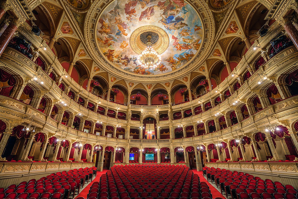 the interior of the Budapest Opera House