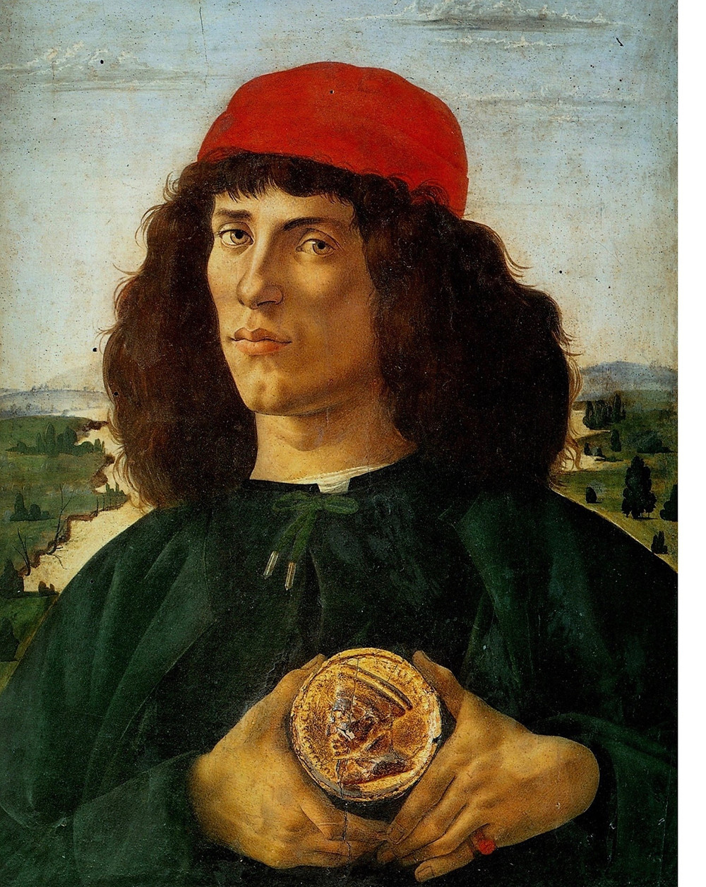Botticelli, Portrait of a Man with a Medal, 1475