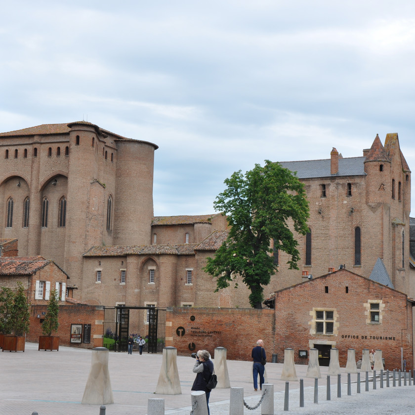 the formal gardens of the Berbie Palace in Albi France