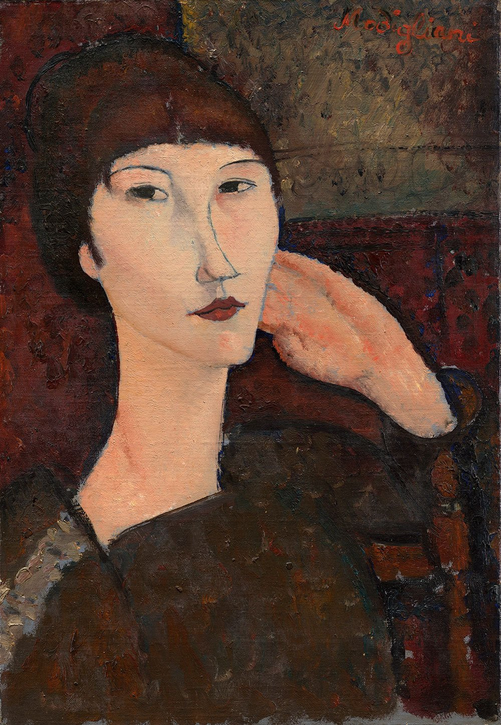 Modigliani, Woman With Bangs, 1917