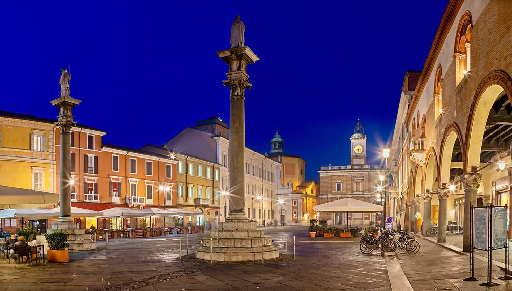 Ravenna's elegant central square, Piazza del Popolo