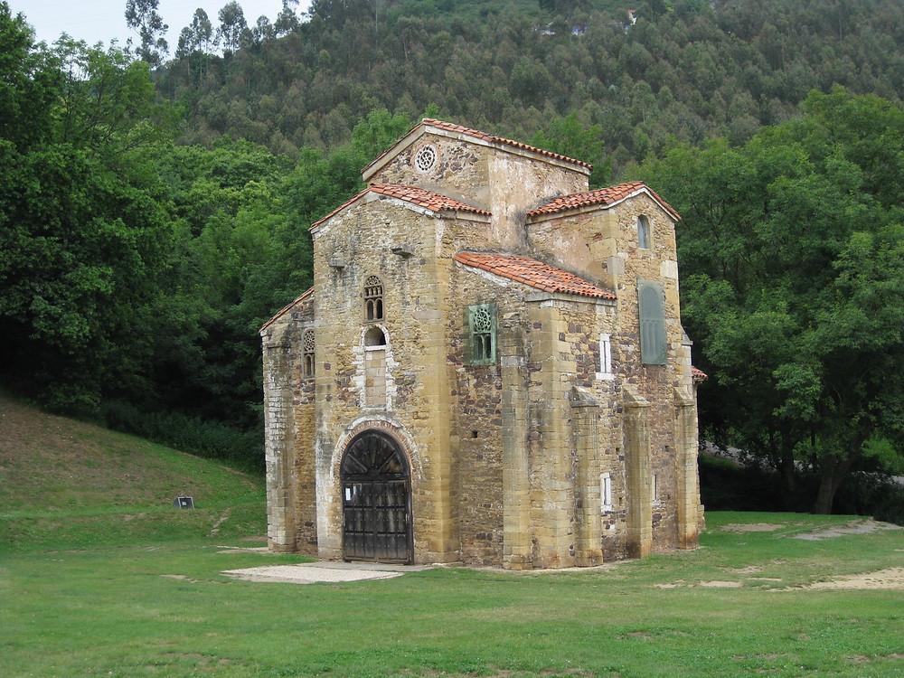 the UNESCO-listed San Miguel de Lillo chapel in Oviedo