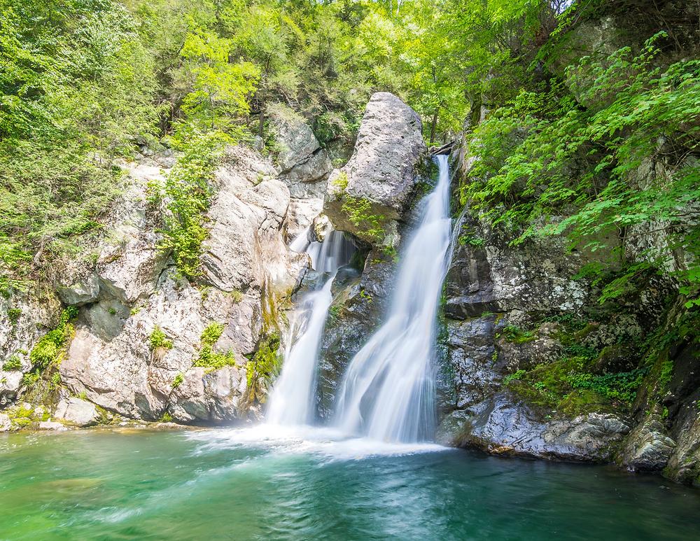 Bash Bish Falls in the Berkshires