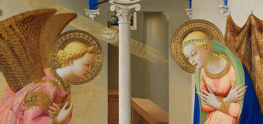 detail from Fra Angelico, The Annunciation, mid 1420s