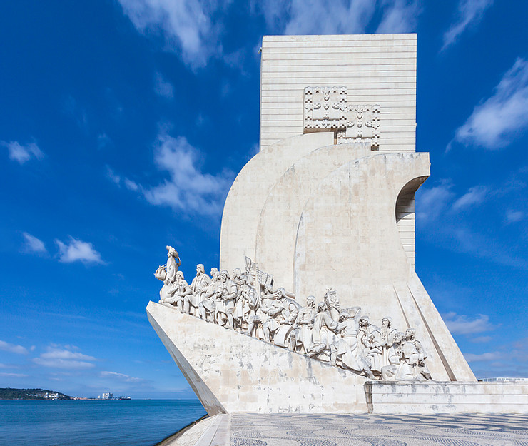 Monument to the Discoveries in the Belem suburb of Lisbon