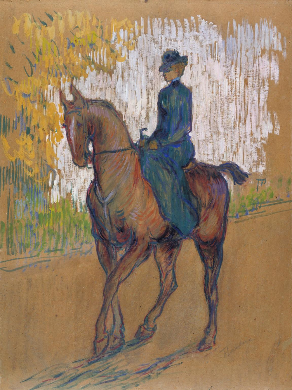 Toulouse-Lautrec, Side-saddle, 1899