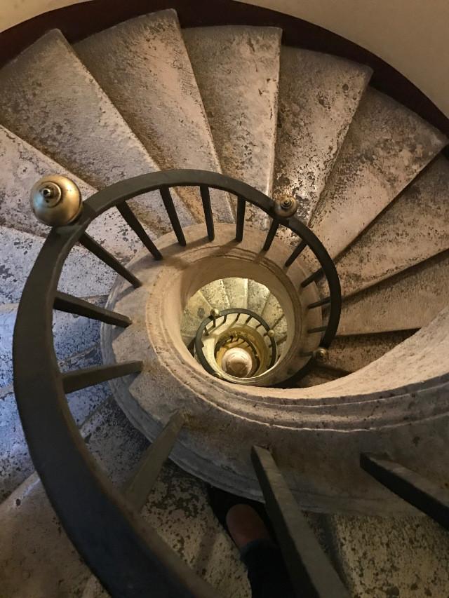 Bernini's spiral staircase in Santa Maria Maggiore