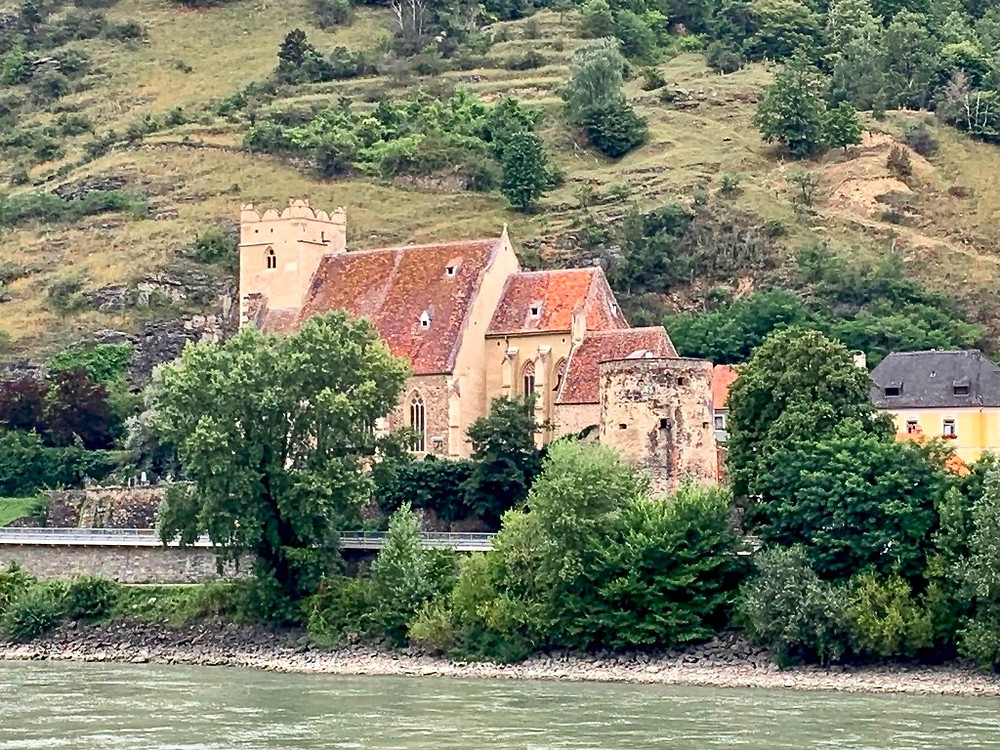 the ancient Saint Michael Kirche on the Danube River