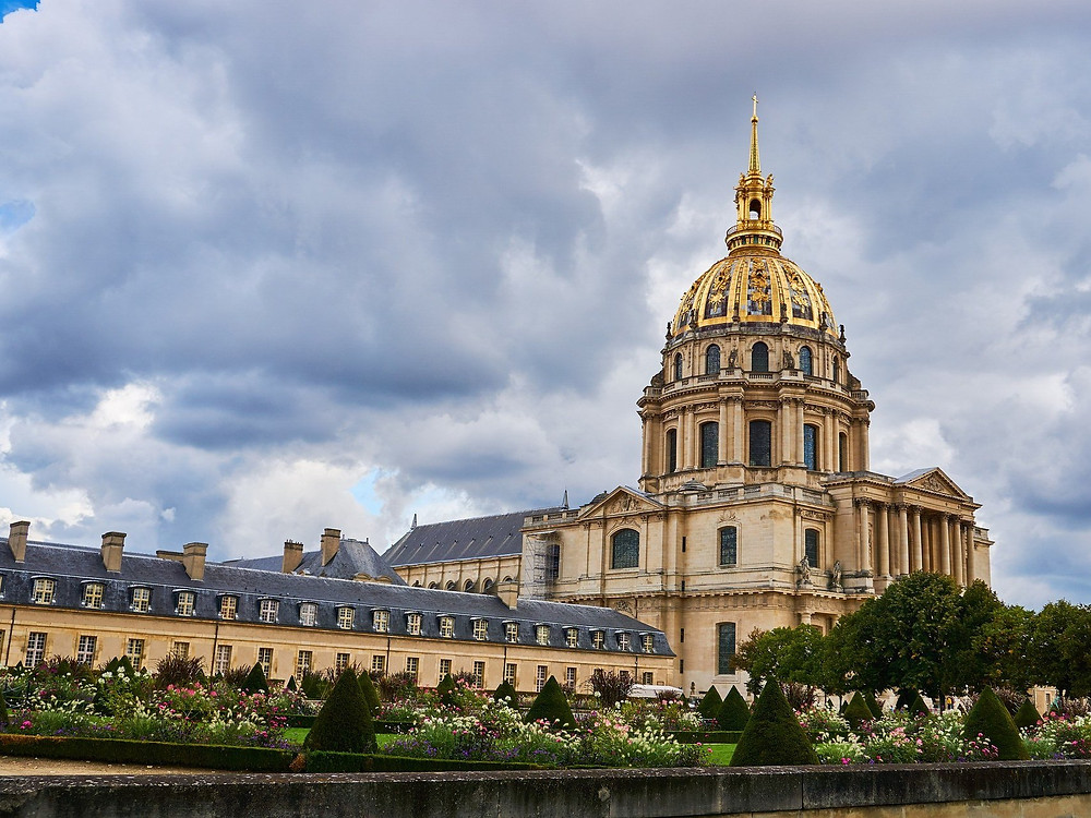 the sprawling complex of Les Invalides in Paris