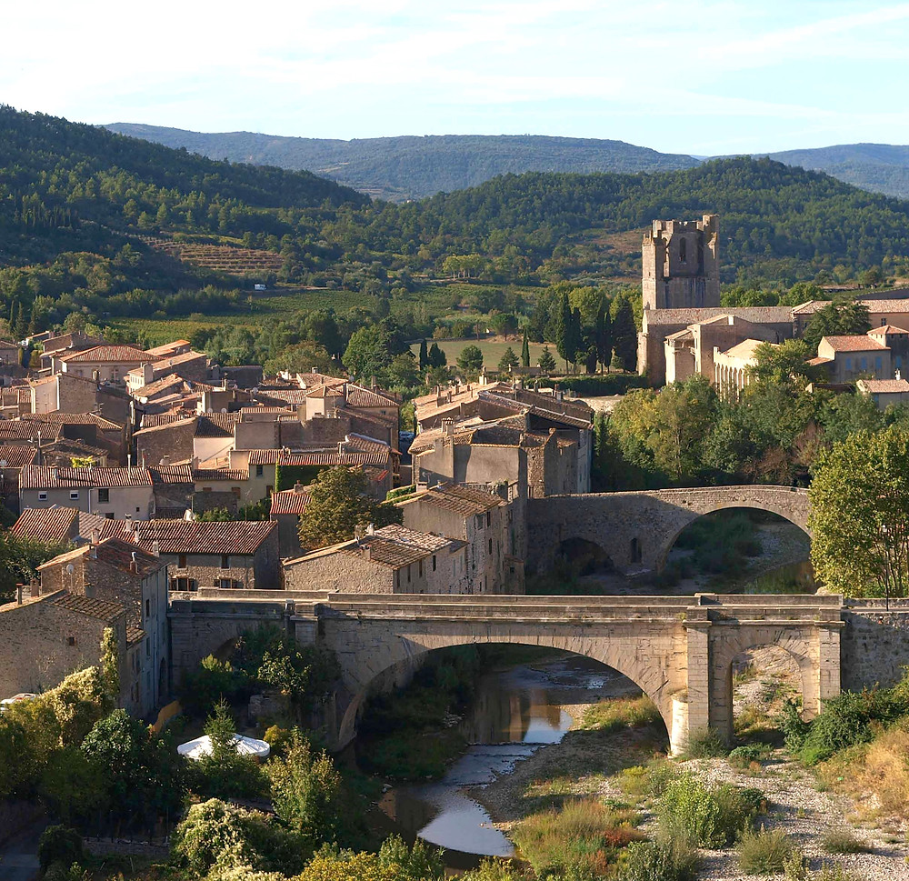 the village of Lagrasse in Occitanie France