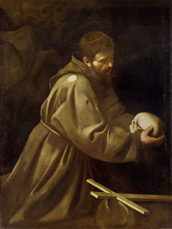 Caravaggio, The Meditaion of St. Francis, 1605