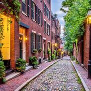 Acorn Street in Boston's Beacon Hill