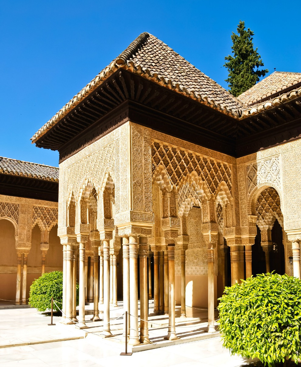Courtyard of the Lions in the Alhambra