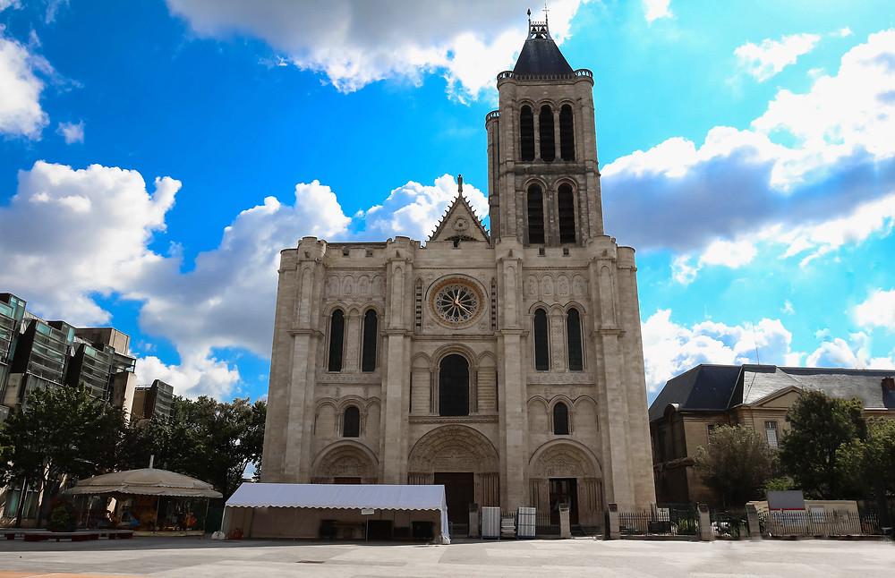 the lopsided Basilica of Saint-Denis