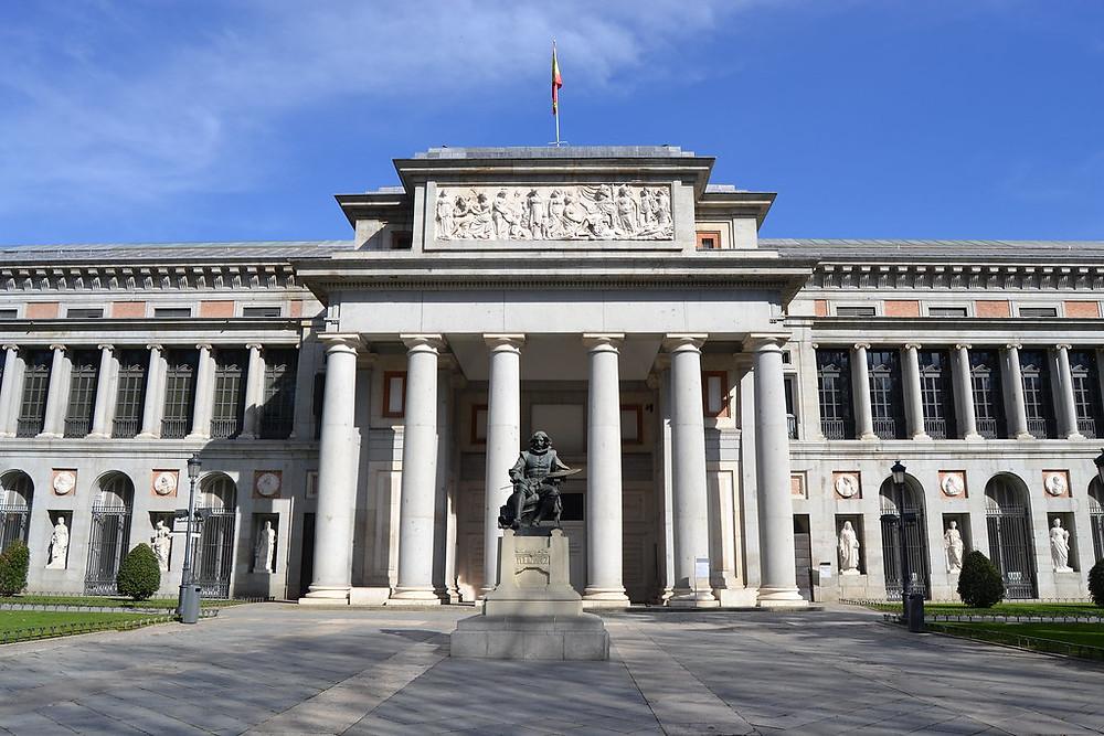 entrance to the Prado Museum