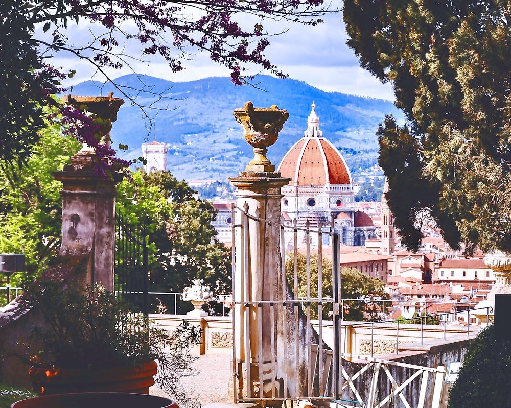 view of the Florence cityscape from the Villa Bardini, a hidden gem in Florence