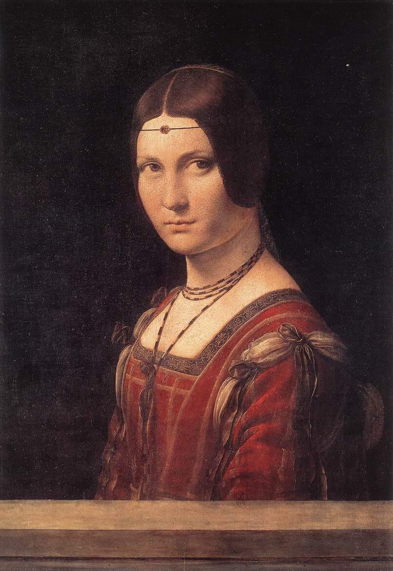 Leonardo da Vinci, La Belle Ferronnière, 1499