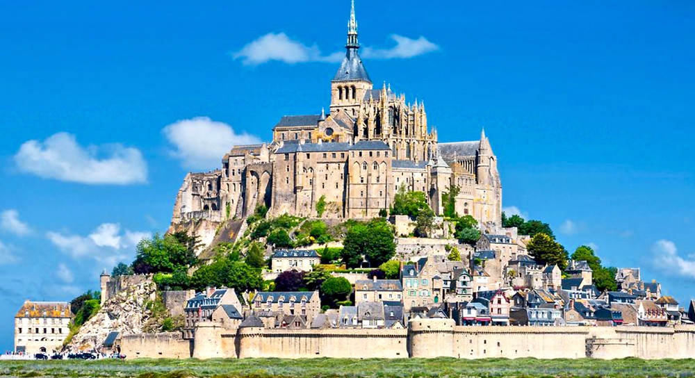 Mont St-MIchel, a UNESCO-listed abbey in Normandy France