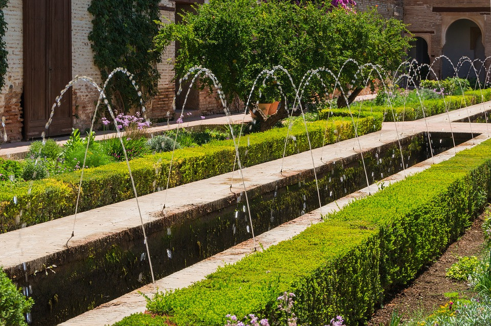 fountain in the Generalife Gardens