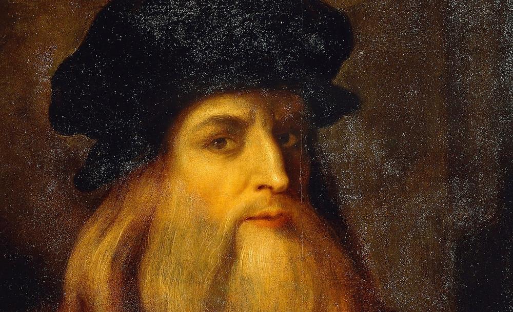 possible self portrait by Leonardo da Vinci in Florence's Uffizi Gallery