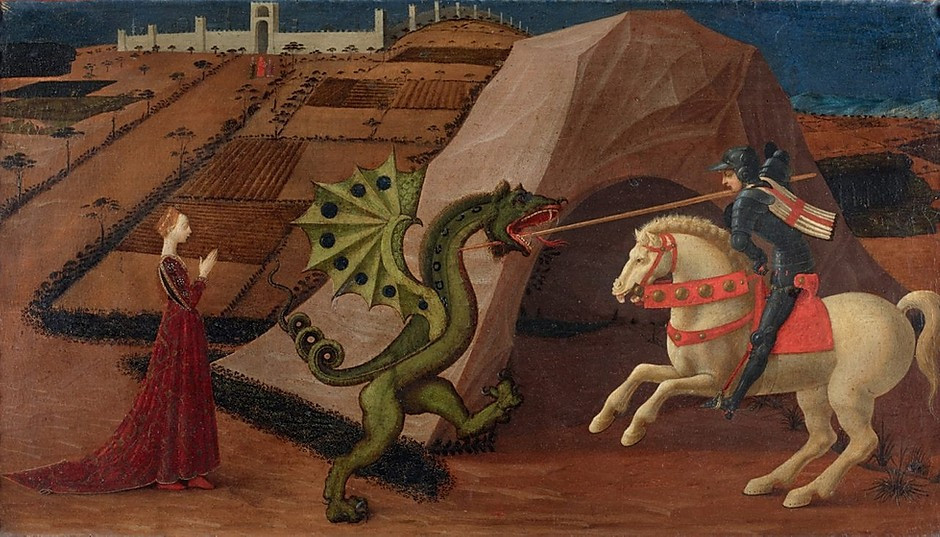 Paolo Uccello, St. George and the Dragon, 1430-1435, Musee Jacquemart-Andre