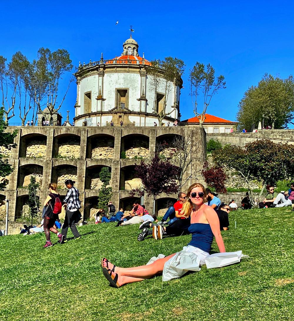 my daughter Ali in the Jardim de Morro, where she had a rest and I almost lost my sunglasses