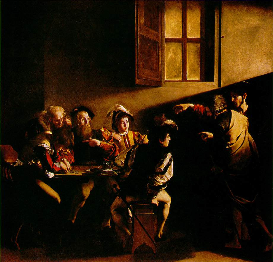 Caravaggio, The Calling of St. Matthew, 1599-1600