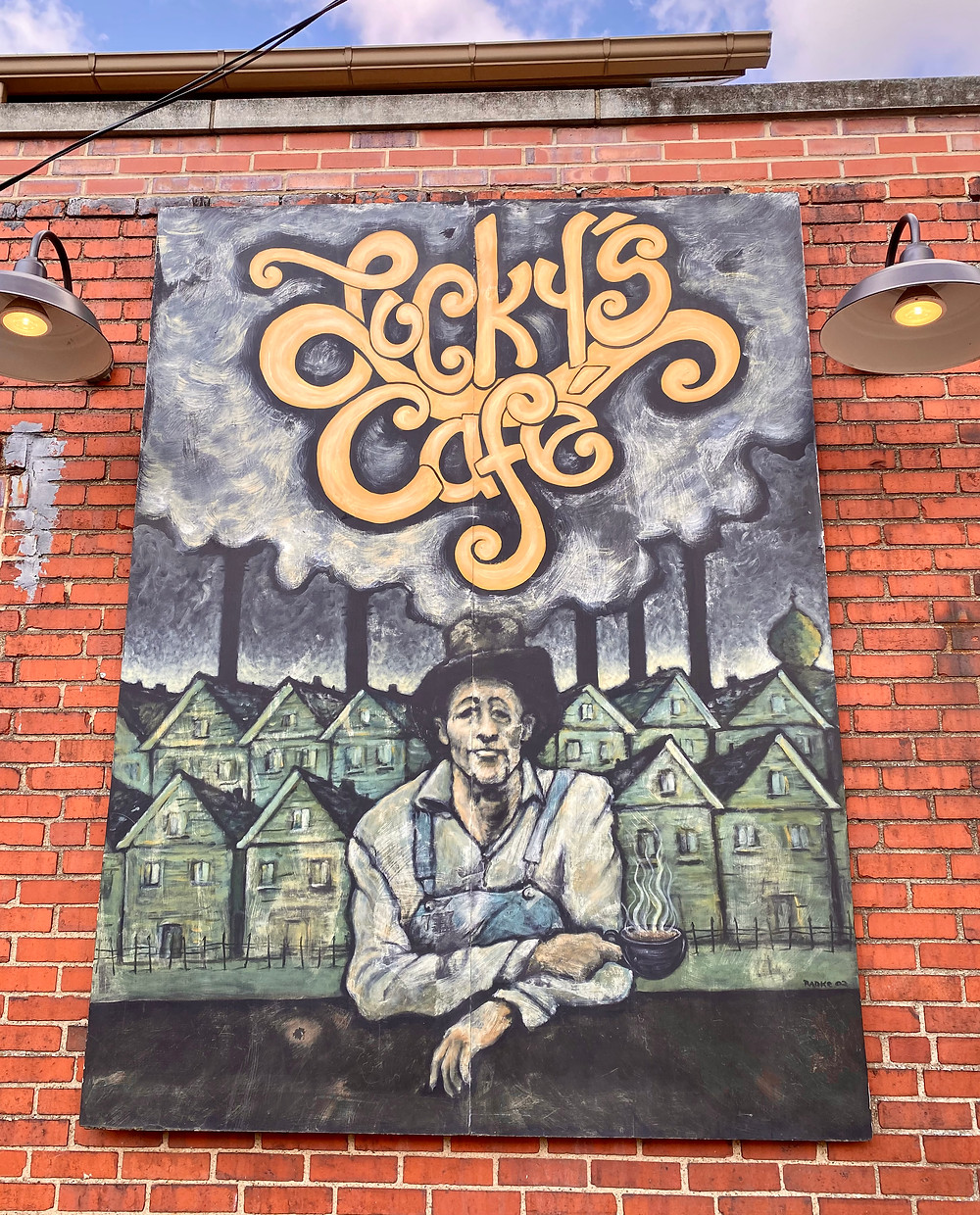mural at Lucky's Cafe in the Tremont neighborhood
