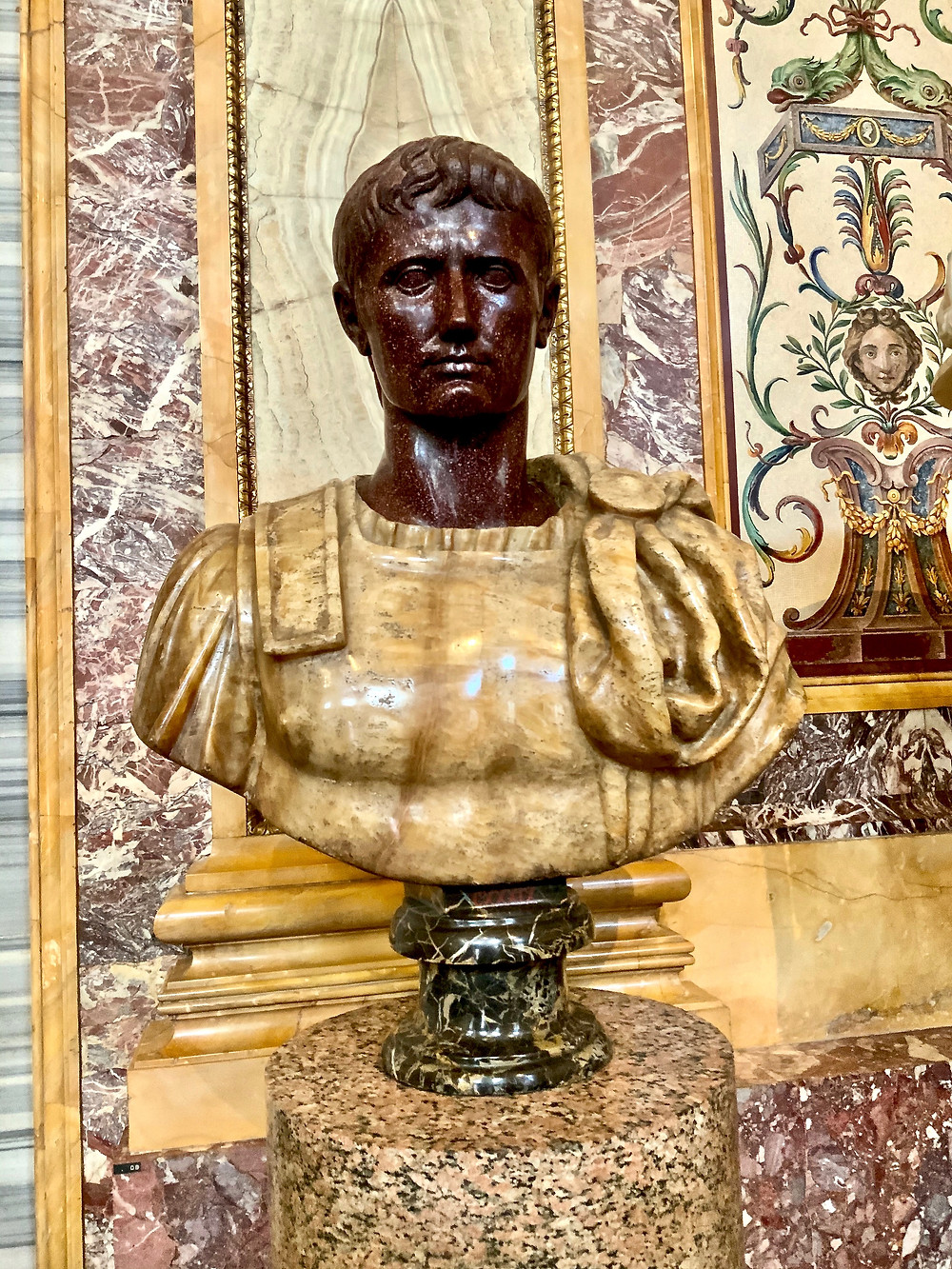 bust from the Emperor's Room of the Borghese Gallery