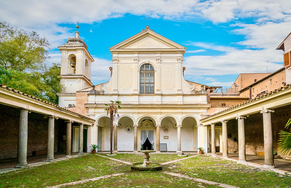 Courtyard of the Basilica of San Clemente al Laterano