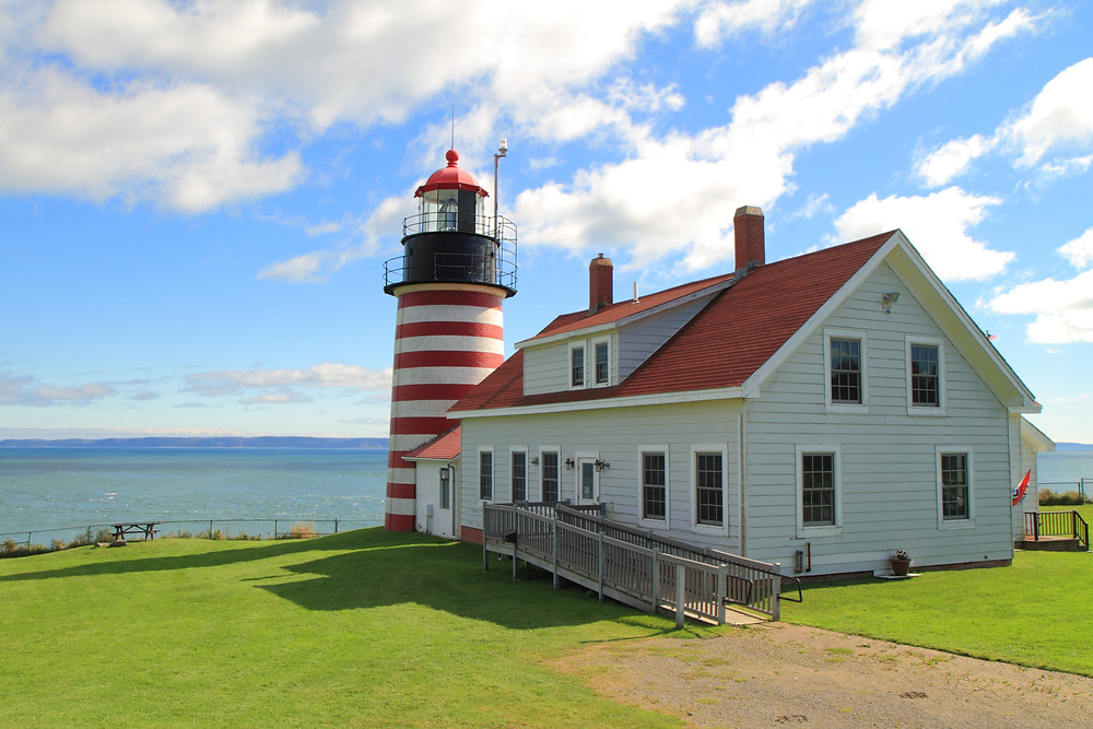 West Quoddy Head Lighthouse in Lubec Maine