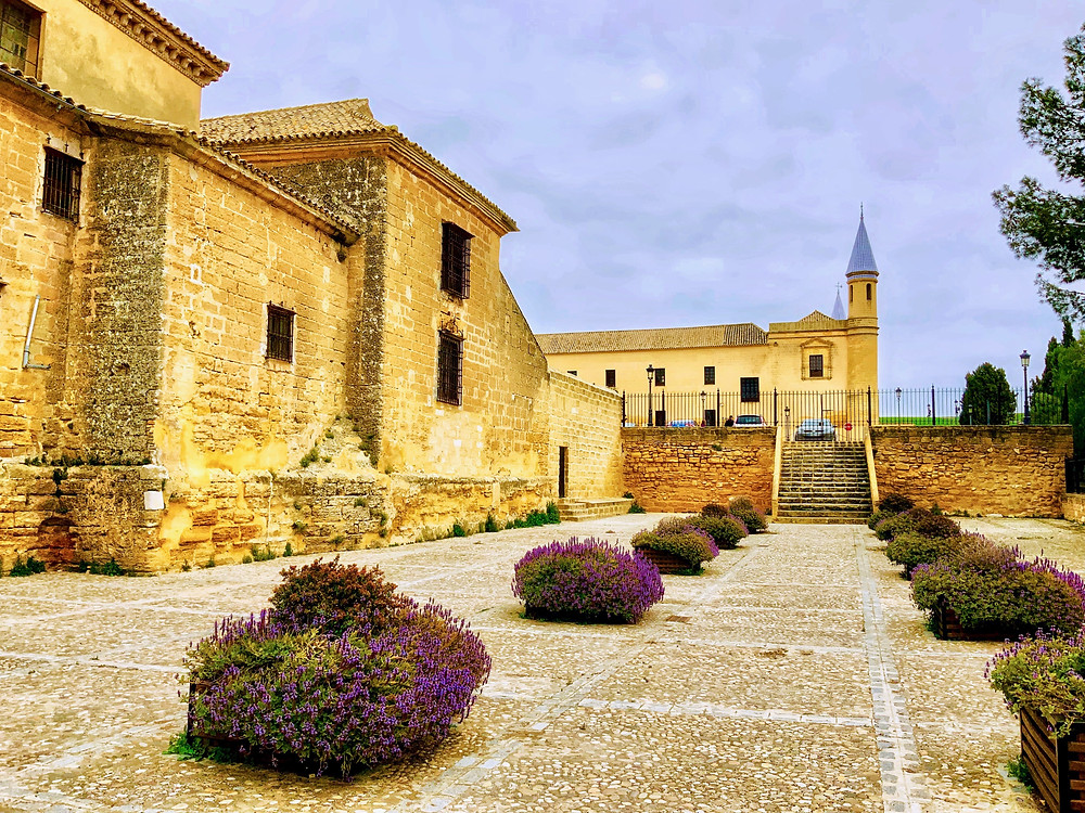 a view of the College Church and the University on the hill in Osuna Spain