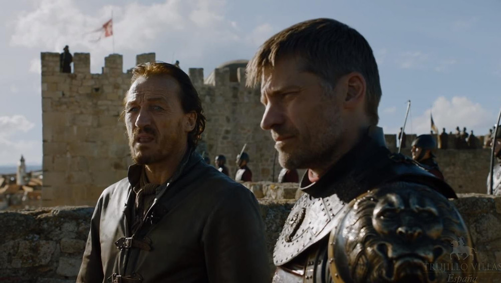 Jaime and Bronne make defense preparations at Trujillo Castle aka Kings Landing