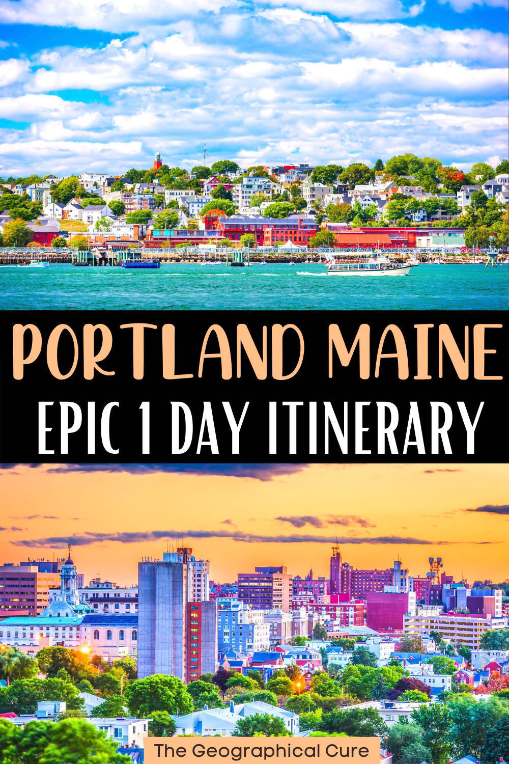 epic one day itinerary for Portland Maine, a must visit city in Maine