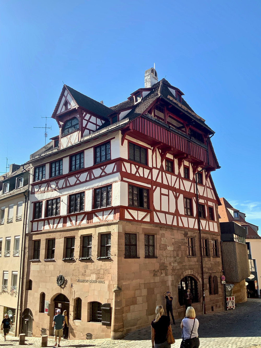 the Albrecht Durer Museum, one of the few surviving medieval homes in Nuremberg