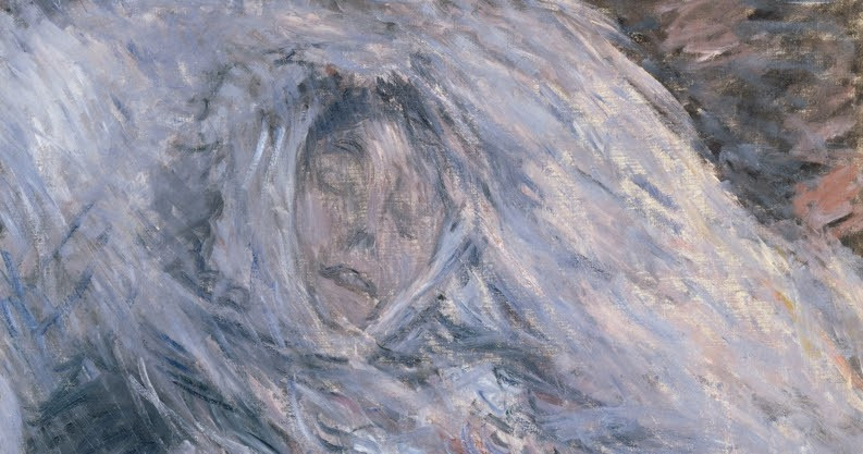 Monet, Camille Monet on Her Deathbed, 1879 -- in the Musee d'Orsay