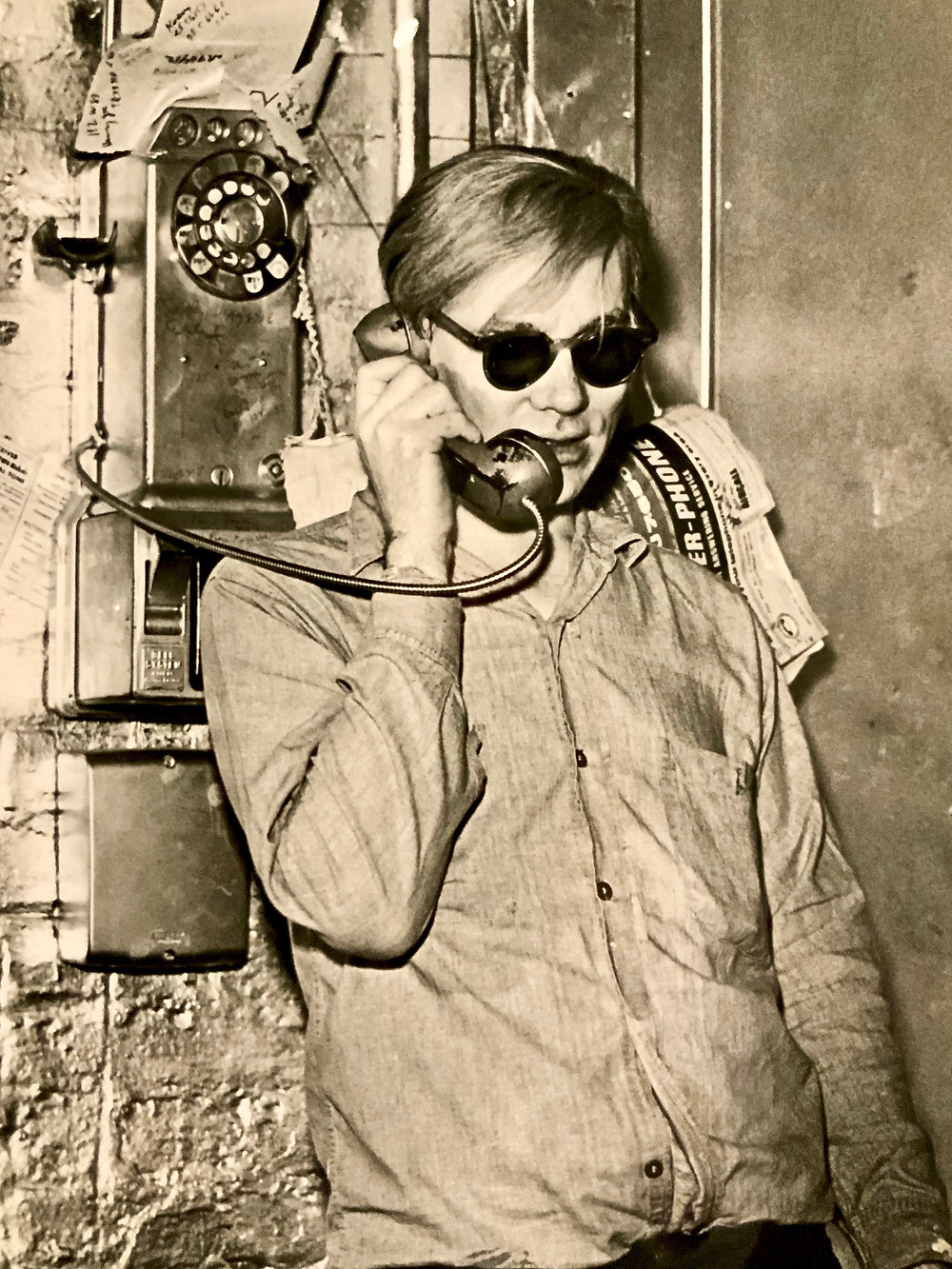 photo of Andy Warhol at the museum