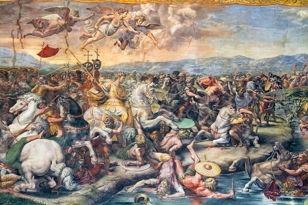 Raphael and Workshop, Battle of the Milvian Bridge, 1520-24