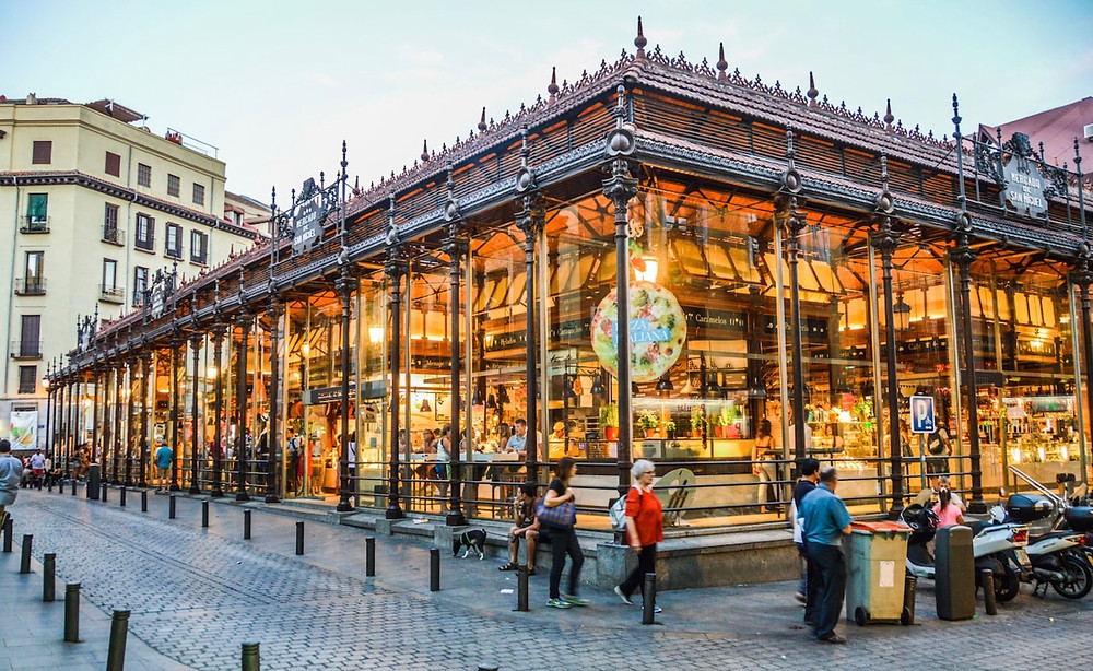 the Mercado de San Miguel, Madrid's gourmet food court