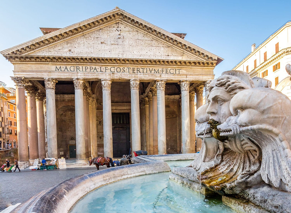 the pantheon and the Pantheon Fountain