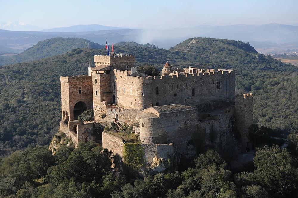 Château de St.-Martin de Toques, a rare Cathar Castle completely rebuilt from ruins