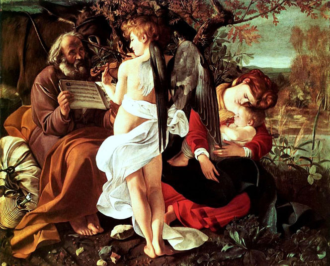 Caravaggio, Rest on the Flight into Egypt, 1596